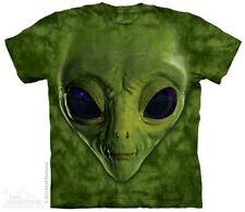 New GREEN ALIEN FACE T Shirt