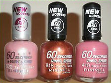 New Rimmel Nail Varnish / Polish. 60 Seconds Fast Drying. Vinyl Shine / Stars