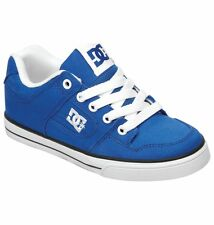 DC KIDS PURE CANVAS BOYS SKATE SHOES BLUE / WHITE