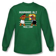 Muhammad Ali 8 Bit Ali  Video Game  Licensed Adult Long Sleeve Shirt S-XXL