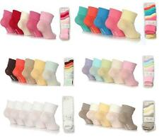 5 Pairs Baby Girls Elle BE04 Turn Over Cotton Socks non slip soles