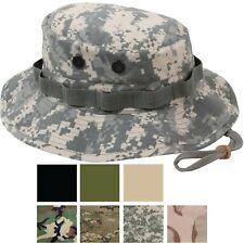 Camouflage Military Rip-Stop Wide Brim Bucket Camping Hunting Boonie Hat