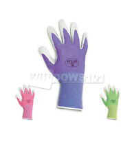 6 Pairs Atlas Showa 370 Nitrile Gloves Garden Work Paint Landscaping- FREE SHIP!