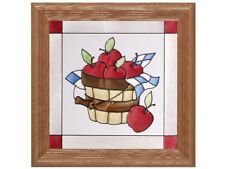 Grapes Fruit & Vine 13x13 Hand Painted Stained Art Glass Window Suncatcher