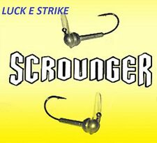 LUCK E STRIKE SCROUNGER JIG HEAD, CHOICE OF SIZE AND COLORS
