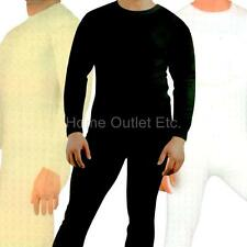 Mens 2pc Thermal Underwear Set Waffle Knit Long John Base Layer Shirt Top+Bottom