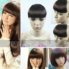 Sex Women Girl False Bangs Neat Fringe Hairpiece Clip On Hair Extensions CD2018