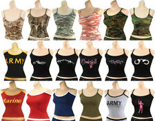 Womens Military Tank Top Camouflage Army Slim Fit Casual Lounging Tee