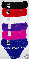 ONE or LOT OF 6 pcs SEXY BIKINI PANTIES AVAILABLE S/5 M/6 L/7 XL/8 NEW LP7036PK