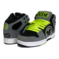 """DVS """"ACES HIGH"""" MENS SKATE HIGH TOPS SHOES GREY ACTION LEATHER"""