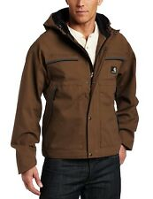 Carhartt Waterproof Jacket Brown Sizes M-L with Removable Hood Breathable (J316)