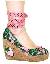 TOO FAST ESPADRILLE STRAWBERRY WOMEN WEDGE US SIZES