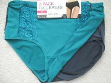 NWT DELTA BURKE 2 Microfiber Full Briefs with Vertical Lace Accent