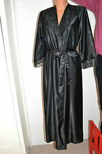 Satin and lace full length robe, made in Britain, robes, unbranded