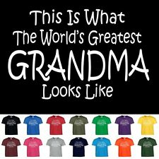 World's Greatest Grandma Mothers Day Birthday Anniversary Gift T-Shirt