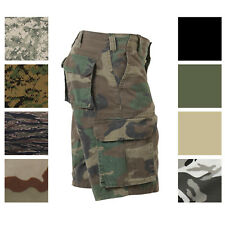 Camouflage Vintage Military Paratrooper Tactical Cargo Shorts