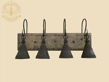 """24"""" New 4 Arm Wood Bathroom Vanity Bar Down Light Punched Tin Antique Finish"""
