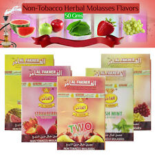 Al Fakher 50g HERBAL Genuine Shisha Pipes Fruit Flavours Non Tobacco Hookah New