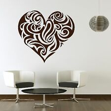 Love Heart Swirl Romantic Valentine Wall Decor Sticker Gift Design Bedroom L7