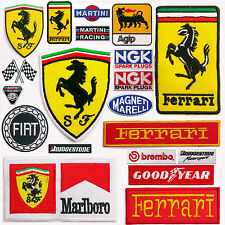 FERRARI Horse Emblem Cars & Formula One Team + Sponsors Iron-On Patch Collection