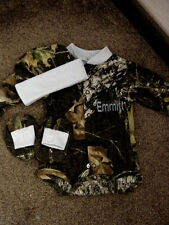 Personalized Boys Camo Camouflage 3PC Baby Infant Newborn Long sleeve Set