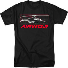Airwolf helicopter TV Show Grid Licensed Shirt Adult Shirt S-3XL