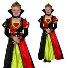 Childrens Girls Queen Of Hearts Fairy Tale Story Book Fancy Dress Costume 4-14 Y
