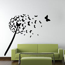 Butterfly FLOWER Dandelion Wall Sticker Art Design Graphic Vinyl Transfer FL1
