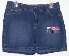 NWT St Johns Bay Secretly Slender Stretch Denim Shorts Dark Handsand Petite