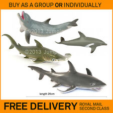 New AAA solid plastic sea creatures toy fish / animal figures SHARKS & DOLPHINS