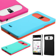 Soft Silicone Rubberized Candy Hybrid SnapOn Case Cover for LG P769 Optimus L9