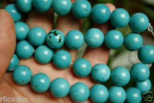 Howlite Turquoise Gemstone Round Beads 16'' Strand 4mm 6mm 8mm 10mm 12mm 14mm