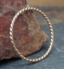 14K Gold Filled Twist Band Ring - Extra Thin Gold Ring - Gold Stack Ring