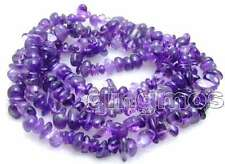 "SALE Long 34"" Purple 8mm baroque natural Amethyst gemstone Beads necklace-n5680"