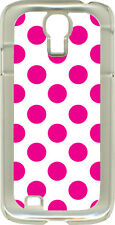 Different Color Polka Dots on Samsung Galaxy S4 Hard or Rubber Case