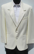 Ivory/Off-White Two Button Tuxedo/Dinner Jacket & Pants Wedding Prom Cruise 36L