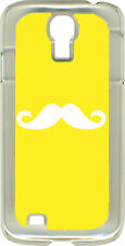 Yellow or Light Purple Mustaches on Samsung Galaxy S4 Hard or Rubber Case Cover