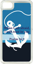 Striped Blue Anchor with Psalm 56:3 Design on Blackberry Z10 TPU Hard Case Cover
