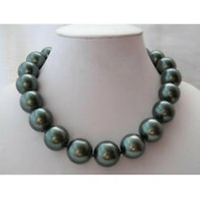 8/10/12/14/16/18/20mm south sea black Shell Pearl Necklace AAA