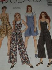 McCALL'S #7593 - LADIES CUTE ( 3 LENGTH ) JUMPSUIT or ROMPER PATTERN  6-20 uc