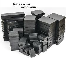 LOT of 20~50~100 Pcs BLACK JEWELRY BOXES COTTON FILLED BOXES NECKLACE GIFT BOX