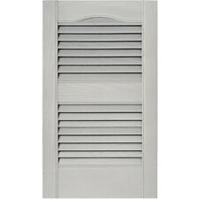 12 in. Louvered Shutters in Paintable Vinyl - Set of 2 [ID 806390]