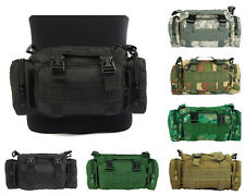 6 Col Airsoft Tactical MOLLE Utility 3-Ways Waist Pouch Bag Pack Black/TAN/ACU A