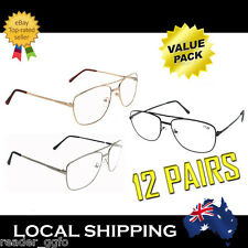 Cheap 12 Pairs Metal Frame Reading Glasses Australian Standard Readers 1.0 - 4.0