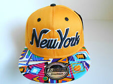 Brand New Aztec Print Peak,New York Vintage Snapback,Flat Peak baseball Cap Hats