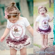 Baby Cotton T-shirts Tutu Dress Romper Outfits Girls One Piece Clothing 0-3 Year