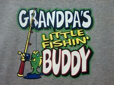Grandpa Fishing Buddy AWESOME Kid Cute Sweet T-Shirt Baby Toddler Youth Tee