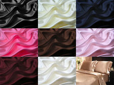 4Pc 400TC Satin Bed Sheet Pillowcase Set Deep Pocketed Lingerie Silky Charmeuse