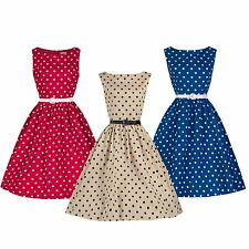 NEW LINDY BOP 'AUDREY' POLKA DOT VINTAGE 1950's SWING DRESS
