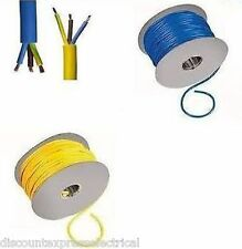 Arctic Cable Electrical 3 Core Yellow Blue 1.5mm 2.5mm 4mm 6mm Flex 3183A 25m